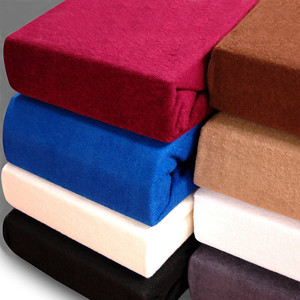 Terry bed sheet is pleasant to the touch and warm, suitable for year-round use. Material: 80% cotton, 20% polyester