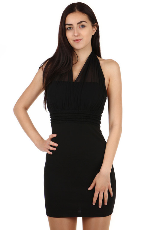 Neck mini dress