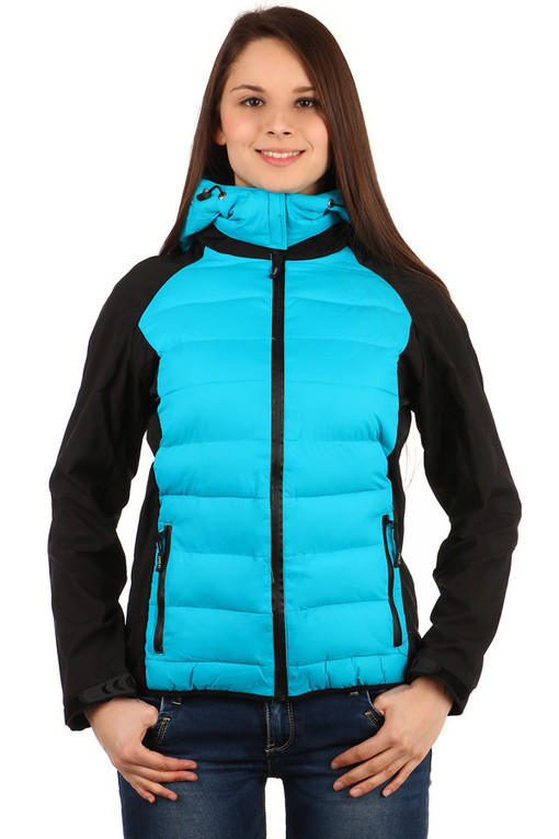Autumn women's jacket with removable hood