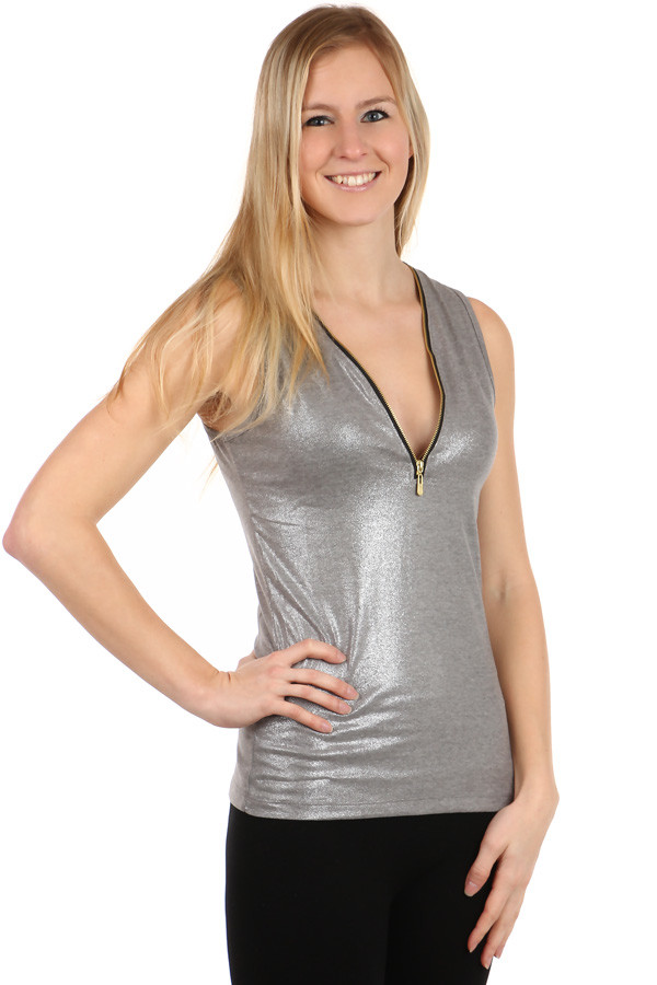 Women's Tank Top Zipper