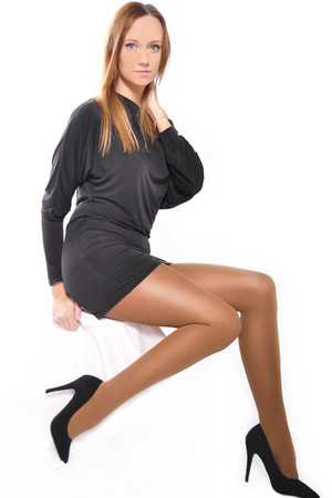 Stretching women's nylons. Reinforced seat and tip. Material: 100% polyamide