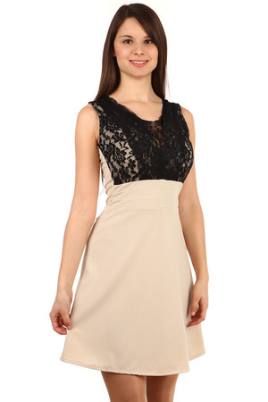 Seductive dress with lace. Zip fastening. Attention - black and red dresses have a different lace in the neckline, they are