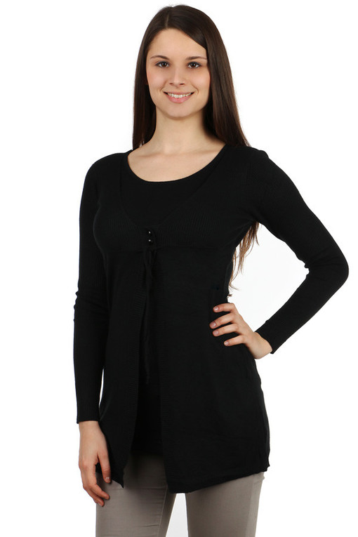 Women's Long Sweater 2in1