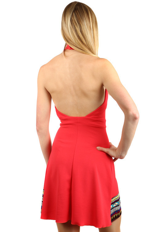 Unusuall summer dress with bare backs