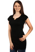 Longer women's t-shirt neckline decoration