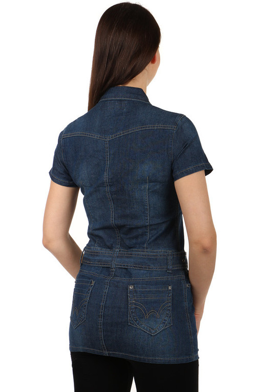 Women's Denim Short Sleeve Dress