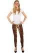 Women's extravagant leggings with snake pattern