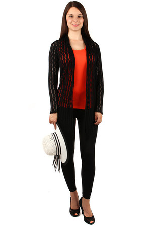 Fashion cardigan with fringe. Material: 95% viscose, 5% elastane. Import: Italy