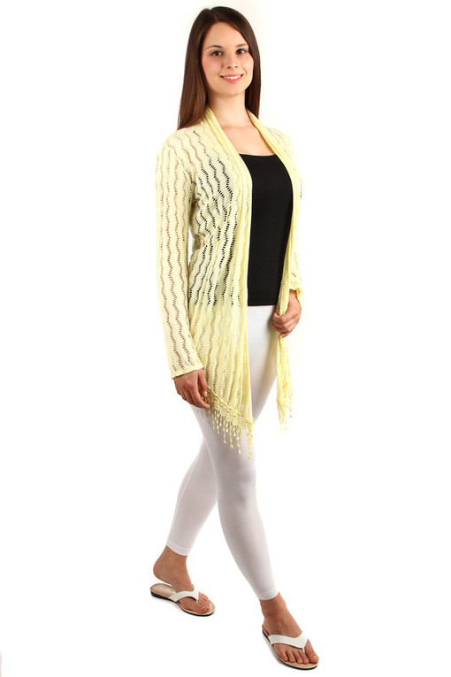 Women's cardigan with fringes
