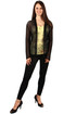 Women's fishnet cardigan