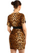 Short ladies tiger dress with belt