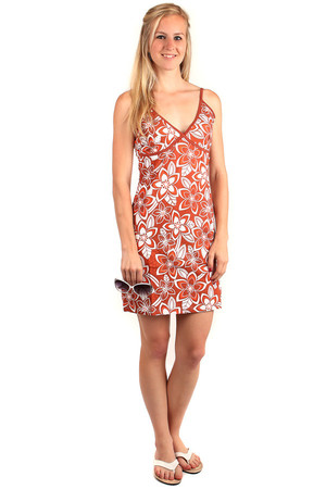 Summer dress with flowers. Narrow adjustable straps. Material: 95% cotton, 5% elastane