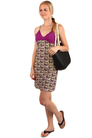 Comfortable summer dress. One color top. Adjustable straps. Material: 95% cotton, 5% elastane