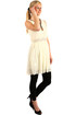 Women's short retro dress with lace without sleeves