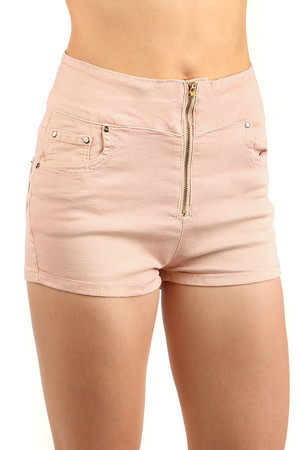 Shorts with unusual zip fastening. Front and back pockets. Beautiful elastic material. Material: 95% cotton, 5% elastane