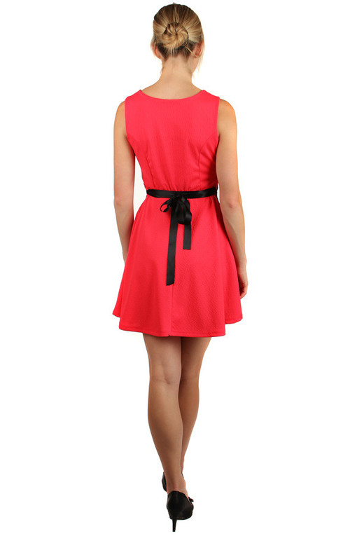 Ladies dress lace and belt