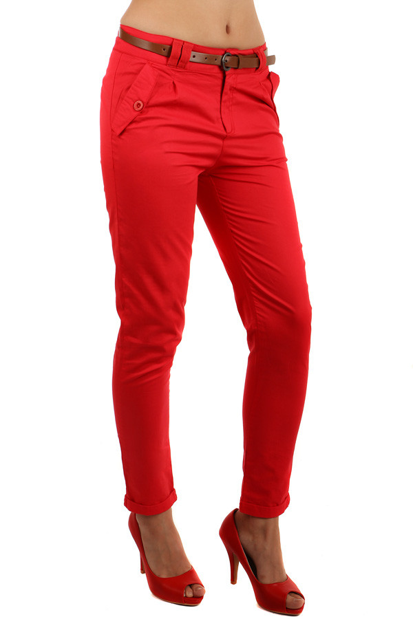 Ladies party pants with belt