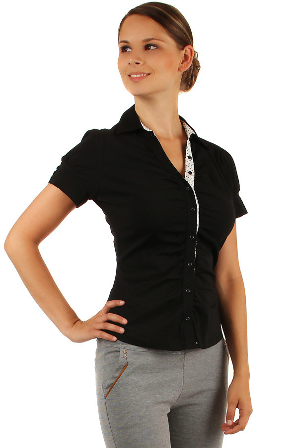 Ladies' classic style short sleeve shirt