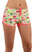 Women's sports mini shorts with hearts