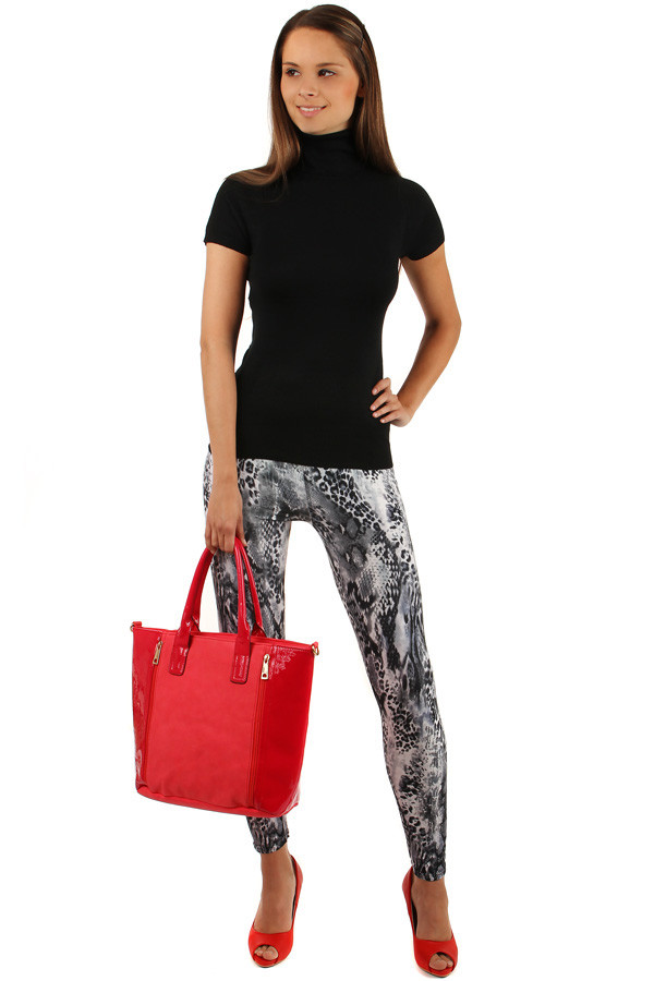 Striking female leggings with animal pattern
