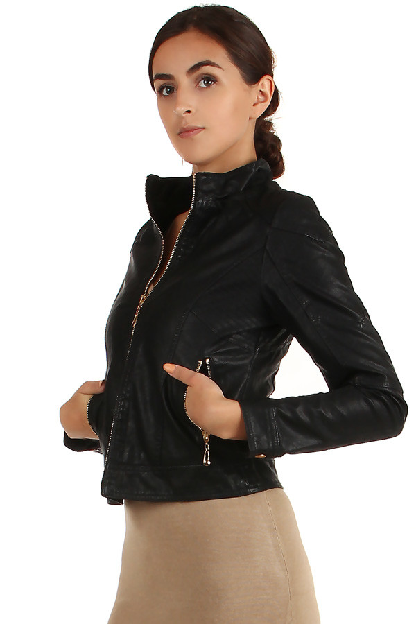 Women's leatherette jacket