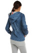 Women's sweatshirt with dots with asymmetric fastening