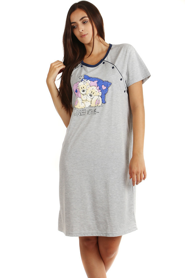 Women's cotton nightie for nursing