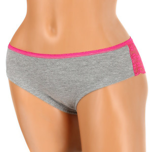 Women's panties with lace on the back. Material: 95% cotton, 5% elastane.