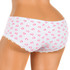 Cotton women's panties printed with hearts