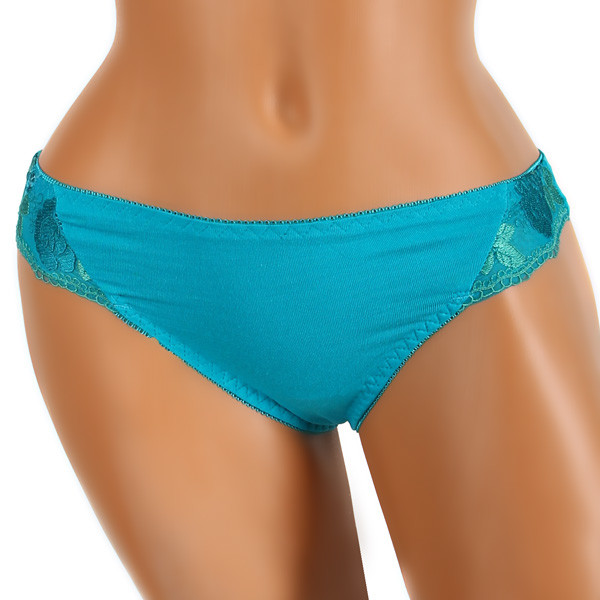 Women's cotton thong embroidery