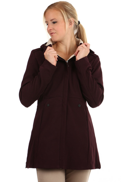 Women's softshell jacket with hood
