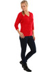 Women's soft sweater V-neck 3/4 sleeves