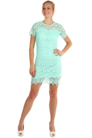 Lace dress in multi-layered look. Material: 65% polyester, 35% cotton