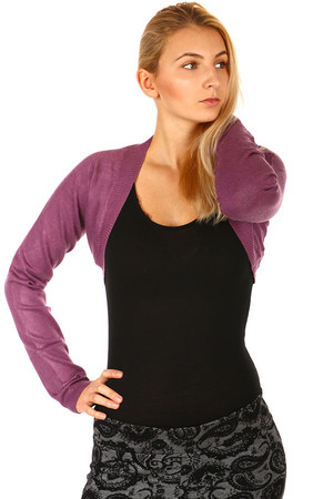 Ladies sweater bolero classic style. Choice of many colors. Material: 70% viscose, 20% polyester, 5% cashmere, 5% elastane