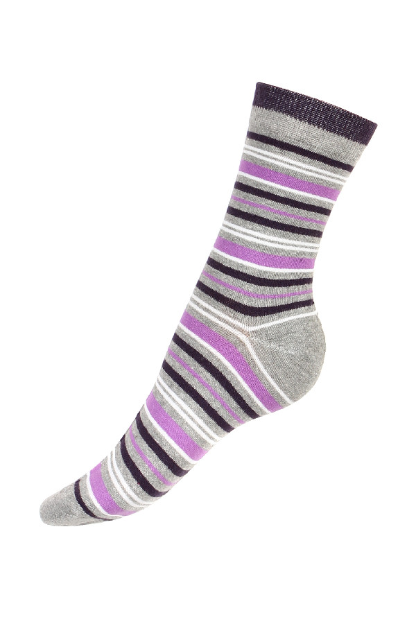 Women's socks with stripe