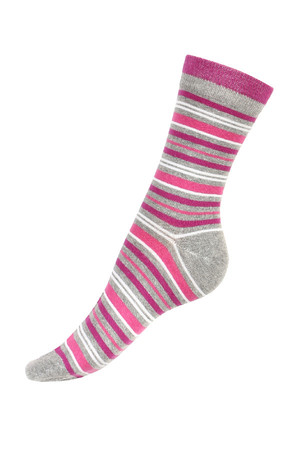 Striped socks in many colors. Material: 90% cotton, 5% polyamide, 5% elastane. Import: Hungary
