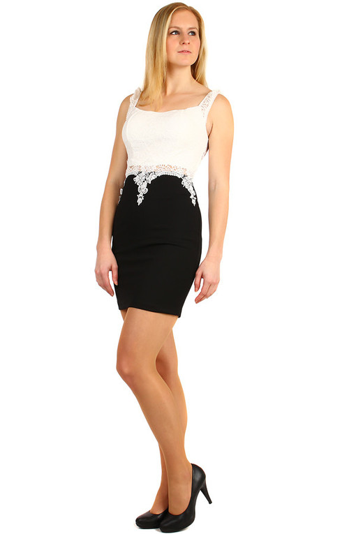 Short lace ladies dress