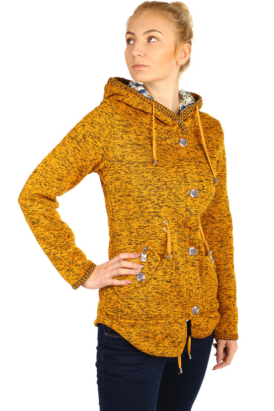 Women's warmed brindle jacket with hood