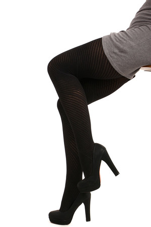 Women's tights perforated. Material: 85% polyamide, 10% polyester, 5% elastane