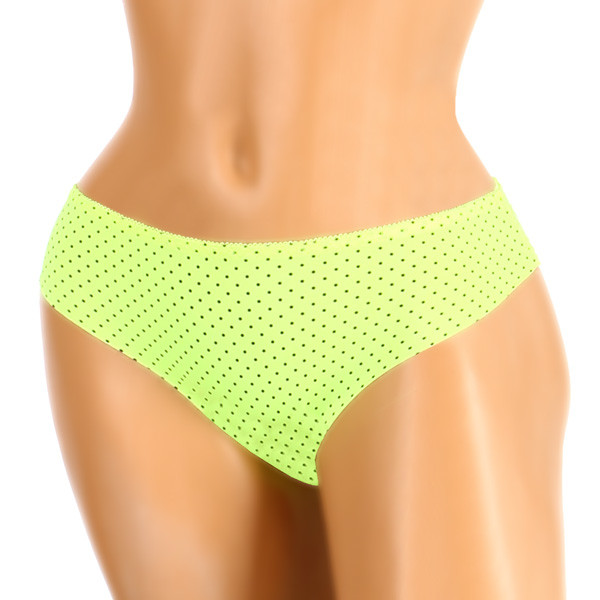 Women's polka-dot panties with lace on the back