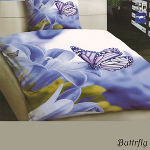 Linen with quality 3D butterfly. Pleasant and smooth to the touch. Each pack contains 1pc bedding 140x200 cm, 1pc bedding