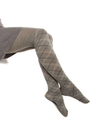Cotton patterned tights Material: 95% cotton, 5% polyamide.