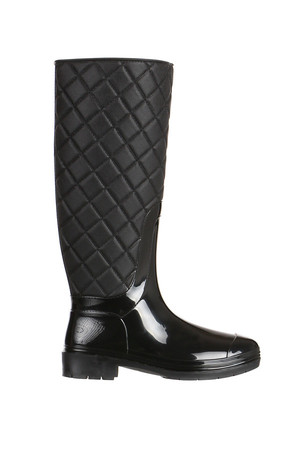 Women's high boots with quilted top.