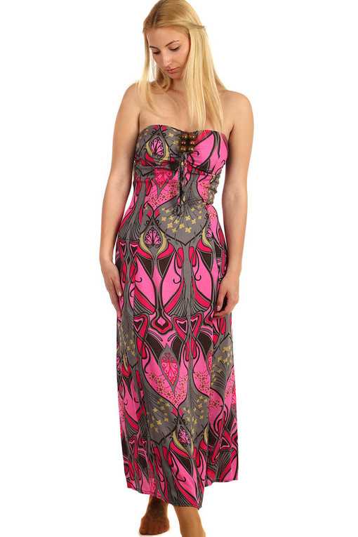 Long patterned dress