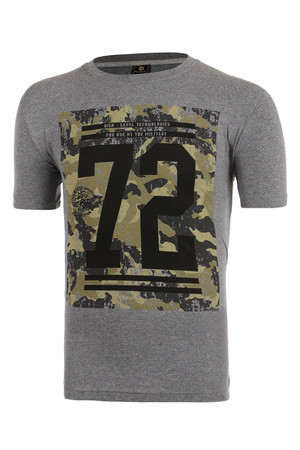 Men's t-shirt with printing, cotton. Material: 100% cotton