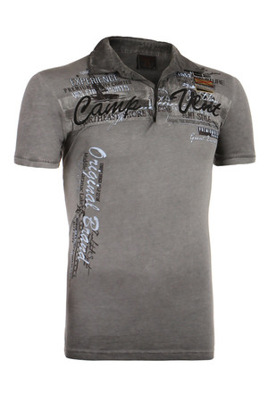 Men's shirt with lettering and collar. Material: 100% cotton