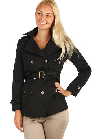 Ageless trench coat suitable for spring and autumn weather. Up to size 46. Material: 100% polyester.