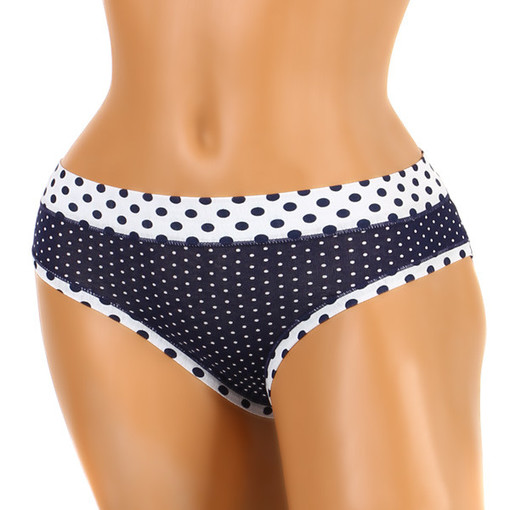 Cotton women's panties with polka dots