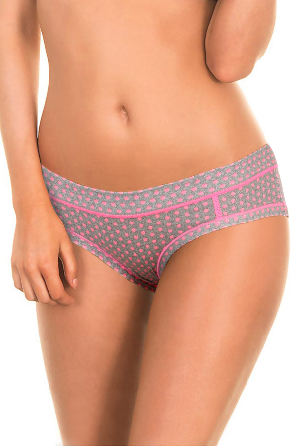 Women's cotton panties with colorful polka dots
