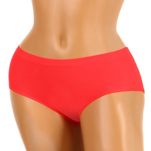 One-color invisible panties. The flexible material adapts to the body and does not mark the panties under clothing. Material: